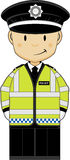 Cute Cartoon Policeman Royalty Free Stock Photography