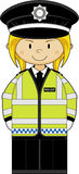 Cute Cartoon Policewoman Stock Image