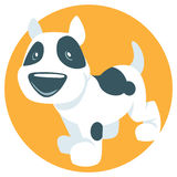 Cute cartoon puppy Stock Images