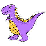 Cute cartoon purple t-rex Stock Photos
