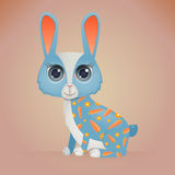 Cute Cartoon Rabbit Royalty Free Stock Photos