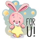 Cute Cartoon Rabbit Royalty Free Stock Photo