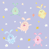 Cute cartoon rabbit, vector illustration Royalty Free Stock Photos