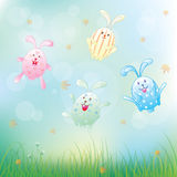 Cute cartoon rabbit, vector illustration Stock Image
