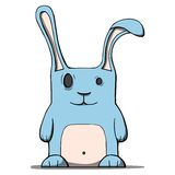 Cute cartoon rabbit. Vector illustration Stock Images