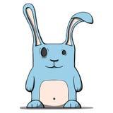 Cute cartoon rabbit. Vector illustration. Vector illustration of a funny cartoon rabbit Stock Images