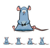Cute  Cartoon Rat or Mouse Set Royalty Free Stock Photo