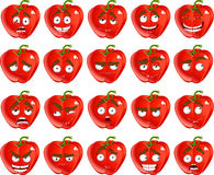 Cute cartoon red Bulgarian pepper smile wit royalty free stock photo