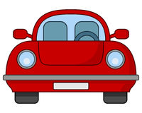 Cute Cartoon Red Car Icon Royalty Free Stock Images