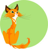 Cute cartoon red cat Royalty Free Stock Photography