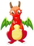 Cute cartoon red dragon Royalty Free Stock Image