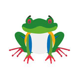 Cute cartoon red-legged frog vector illustration Stock Photography