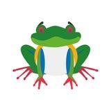 Cute cartoon red-legged frog vector illustration Stock Photography