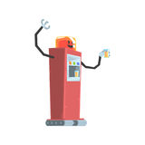 Cute cartoon red robot soda vending machine character vector Illustration Stock Photos