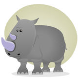 Cute Cartoon Rhino Royalty Free Stock Image