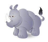 Cute Cartoon Rhinoceros Stock Photos