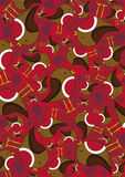 Cute Cartoon Robin Pattern Royalty Free Stock Image