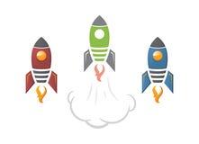 Cute cartoon rocket illustration Stock Photo