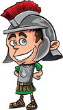Cute cartoon Roman legionary Stock Photo