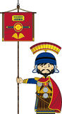 Cute Cartoon Roman Soldier Stock Image