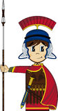 Cute Cartoon Roman Soldier Royalty Free Stock Photo