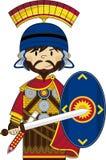 Cute Cartoon Roman Soldier Stock Photos