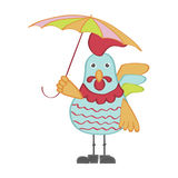 Cute cartoon rooster character illustration Royalty Free Stock Photography