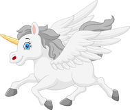Cute cartoon running unicorn Royalty Free Stock Photography