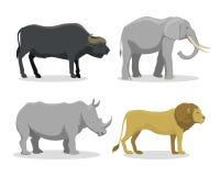 Cute cartoon safari animals vector illustration. Royalty Free Stock Images