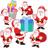 Cute cartoon Santa Claus collection Stock Photo