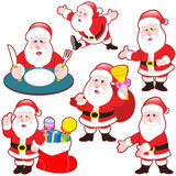 Cute cartoon Santa Claus collection Stock Image