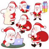 Cute cartoon Santa Claus collection Stock Images