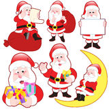 Cute cartoon Santa Claus collection Royalty Free Stock Photo