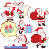 Cute cartoon Santa Claus collection Royalty Free Stock Photography