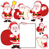 Cute cartoon Santa Claus collection Royalty Free Stock Images