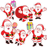 Cute cartoon Santa Claus collection Royalty Free Stock Image