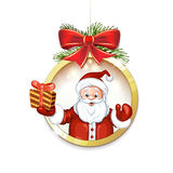 Cute cartoon of a Santa Claus Royalty Free Stock Photography