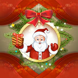 Cute cartoon of a Santa Claus Stock Photography