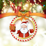 Cute cartoon of a Santa Claus Royalty Free Stock Image