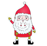 Cute cartoon Santa Claus with pigtail Royalty Free Stock Photography