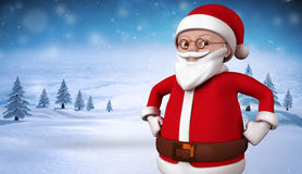 Cute cartoon santa claus smiling Stock Photography