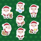 Cute cartoon santa claus xma set Royalty Free Stock Images
