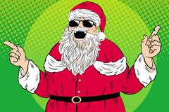 Cute cartoon santa Stock Images