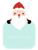 Cute cartoon Santa holding blank Stock Photos