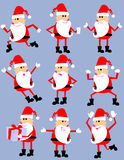 Cute cartoon santa set Royalty Free Stock Photo