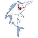 Cute cartoon sawfish Royalty Free Stock Photography