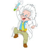 Cute cartoon scientist Stock Photography