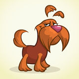 Cute cartoon scottish terrier. Vector brown Scottie dog Stock Photography
