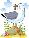 Cute cartoon  seagull. Royalty Free Stock Photos