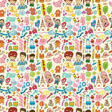 Cute cartoon seamless pattern Royalty Free Stock Photo
